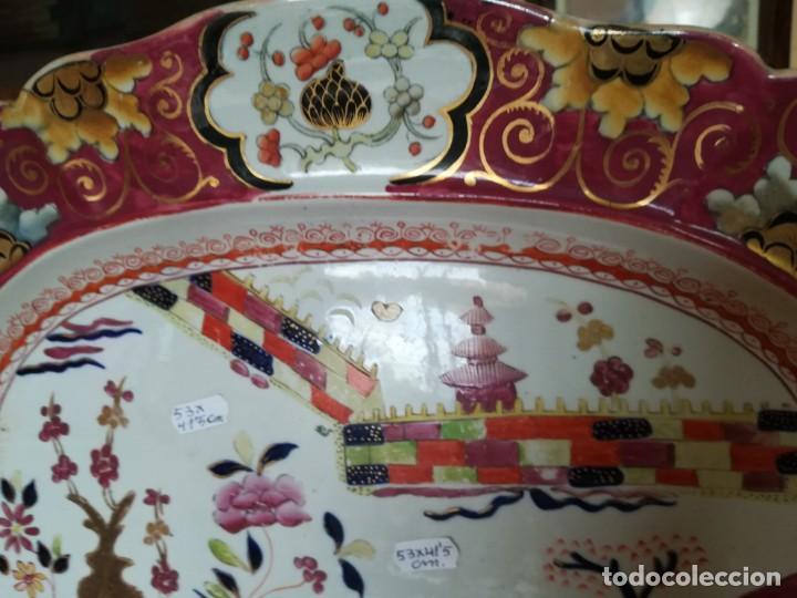 Antigüedades: IMPONENTE MASON´S .MASONS IRONSTONE CHINA PATENTE MURO DE COLORES. 53 X 41 CM. PESO 3.070 GR. C.1820 - Foto 7 - 143008850