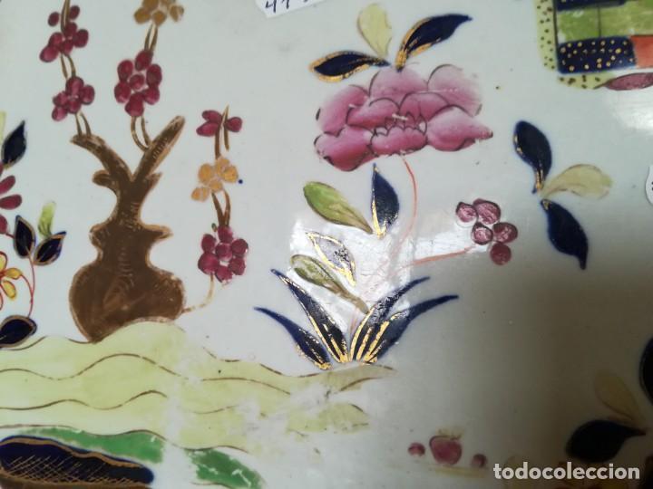 Antigüedades: IMPONENTE MASON´S .MASONS IRONSTONE CHINA PATENTE MURO DE COLORES. 53 X 41 CM. PESO 3.070 GR. C.1820 - Foto 12 - 143008850