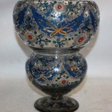 Antigüedades: GENÍS CIRERA CASANOVA (1890 - 1970) CENTRO TIPO BOMBONERA CON MOTIVOS PINTADOS A MANO. Lote 143028826