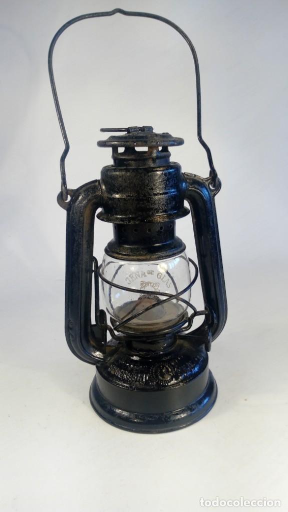 LÁMPARA DE QUEROSENO. MANUFACTURA FEUERHAND Nº 175 SUPERBABY, ALEMANIA (1933 – 1945). (Antigüedades - Iluminación - Quinqués Antiguos)