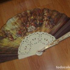 Antigüedades: ABANICO IMAGEN LITOGRAFIADA.. Lote 143051234