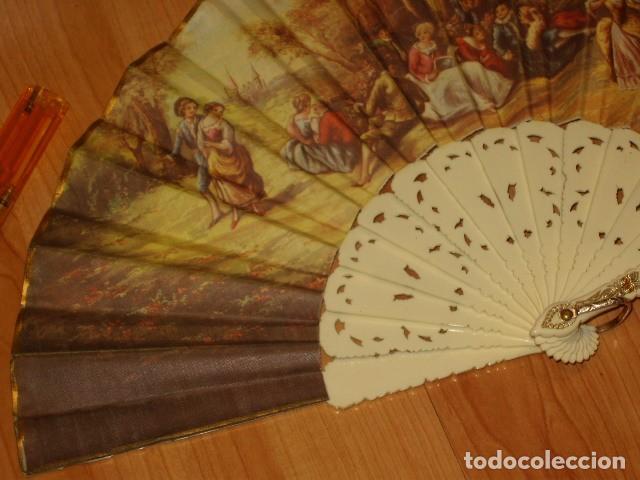 Antigüedades: ABANICO IMAGEN LITOGRAFIADA. - Foto 5 - 143051234