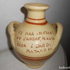 Antigüedades: JARRÓN VI FIRA -MERCAT DEL ARBRE -PLANTA-FLOR I JARDÍ DE MATARÓ 1984. Lote 143073402
