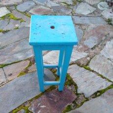 Antigüedades: TABURETE DE MADERA. Lote 143079906