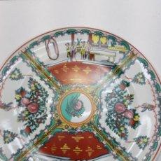 Antigüedades: PLATO ANTIGUO CERÁMICA CHINA FIRMADO. Lote 143086517