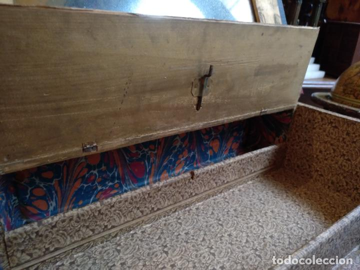 Antigüedades: ANTIGUO SECRETER EN FORMA DE GRAN LIBRO , CON CAJON SECRETO , ORIGINAL SIGLO 19 - Foto 7 - 143087298