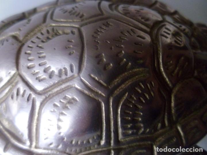 Antigüedades: TORTUGA- METAL PLATEADO - Foto 3 - 143090350