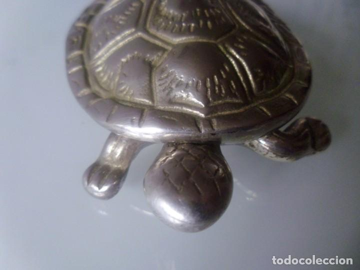 Antigüedades: TORTUGA- METAL PLATEADO - Foto 4 - 143090350