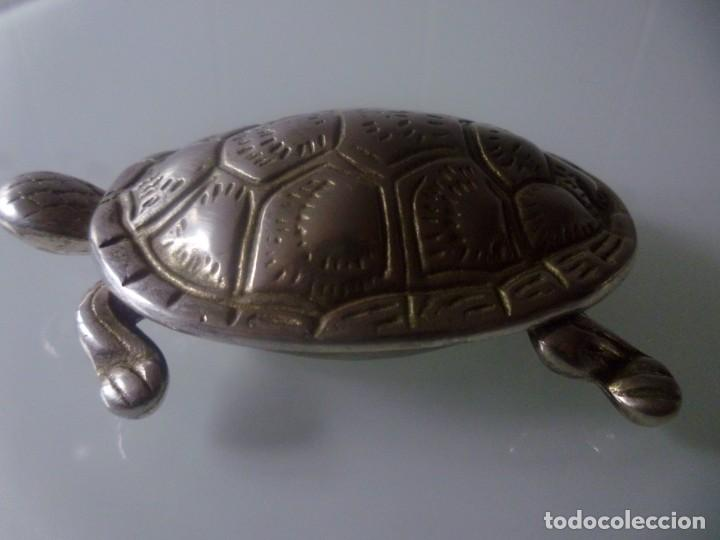 Antigüedades: TORTUGA- METAL PLATEADO - Foto 6 - 143090350