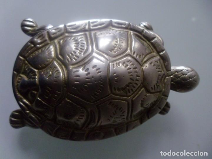 Antigüedades: TORTUGA- METAL PLATEADO - Foto 7 - 143090350