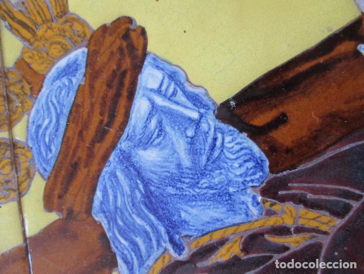 Antigüedades: Retablo ceramico azulejos N:P.J de Pasion - Foto 2 - 143091482
