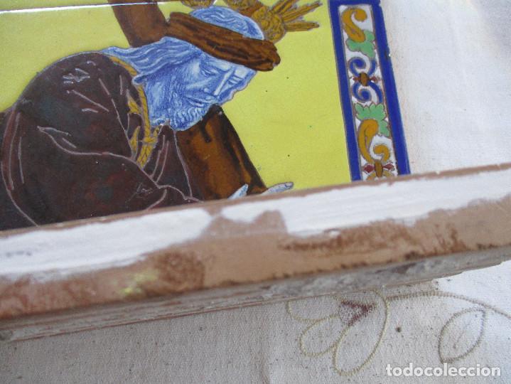 Antigüedades: Retablo ceramico azulejos N:P.J de Pasion - Foto 4 - 143091482