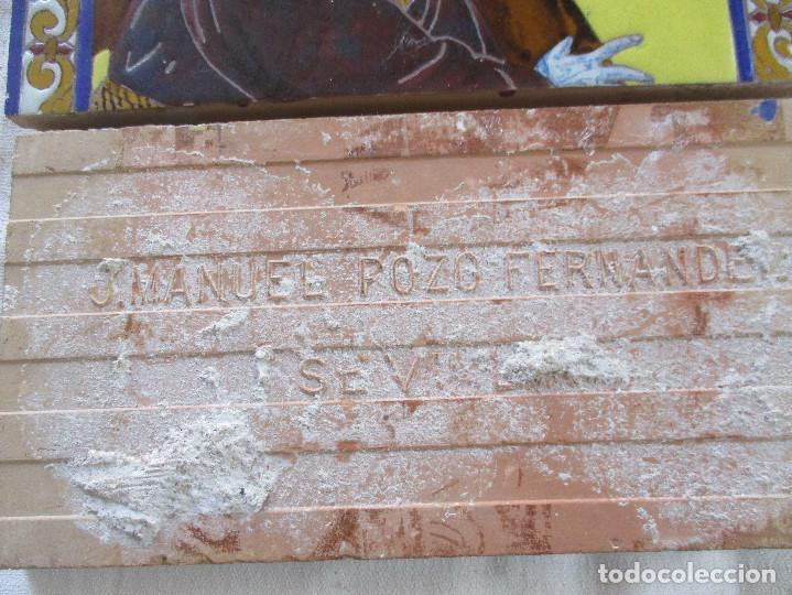 Antigüedades: Retablo ceramico azulejos N:P.J de Pasion - Foto 5 - 143091482