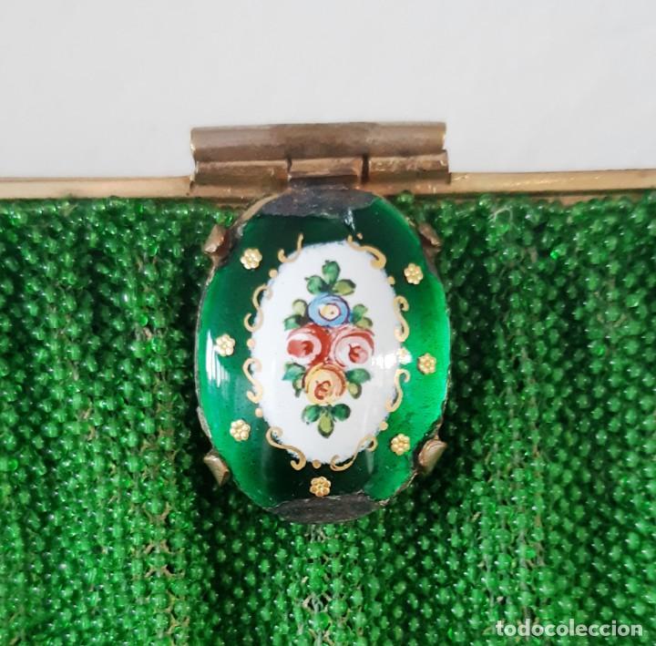 Antigüedades: Bolso de fiesta años 20-30 de cristal y esmalte - Foto 3 - 143098902
