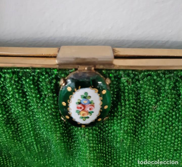 Antigüedades: Bolso de fiesta años 20-30 de cristal y esmalte - Foto 4 - 143098902