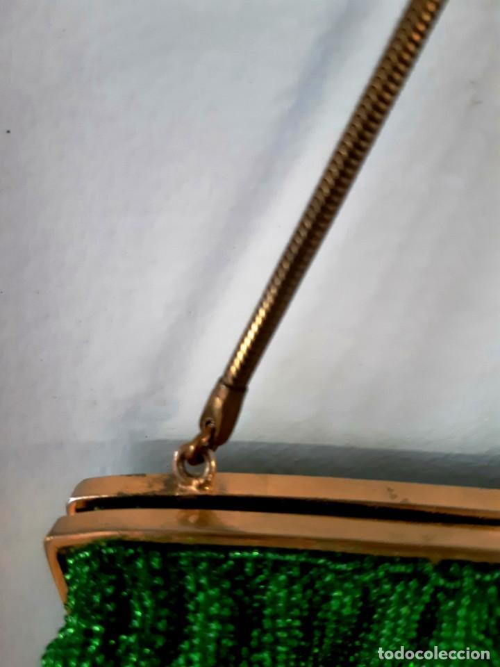 Antigüedades: Bolso de fiesta años 20-30 de cristal y esmalte - Foto 5 - 143098902