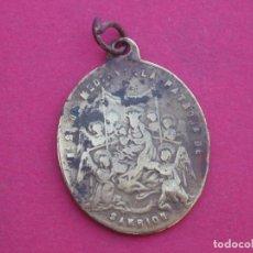 Antigüedades: MEDALLA SIGLO XIX VIRGEN DE MEDIAVILLA. COFRADÍA DE SAN ROQUE. SARRIÓN. TERUEL.. Lote 143100514