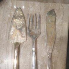 Antigüedades: JUEGO DE TRINCHAR PESCADO MADE IN ENGLAND . Lote 143101722