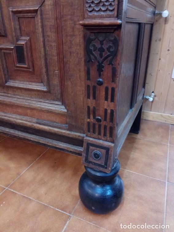 Antigüedades: Aparador flamenco del siglo XVII armoire flamande du XVIIS. - Foto 4 - 143129590