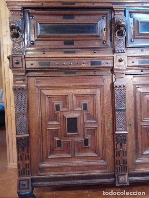 Antigüedades: Aparador flamenco del siglo XVII armoire flamande du XVIIS. - Foto 9 - 143129590