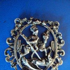 Antigüedades: (ANT-181214)MEDALLA DE PLATA DE SANT JORDI. Lote 143140442