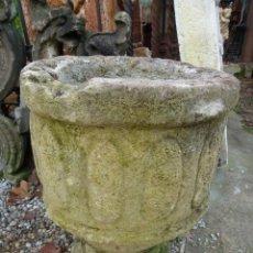 Antigüedades: PAREJA DE COPAS DE PIEDRA CALIZA. Lote 143148486