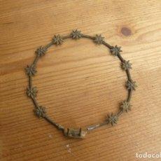Antigüedades: CORONA PARA VIRGEN EN METAL. Lote 143153150