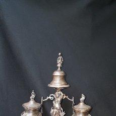 Antigüedades: ESCRIBANIA DE PLATA DE LOUIS FIZAINE. SIGLO XIX. Lote 143155306