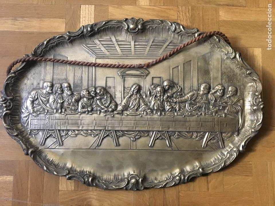 ÚLTIMA CENA LATÓN (Antigüedades - Religiosas - Medallas Antiguas)