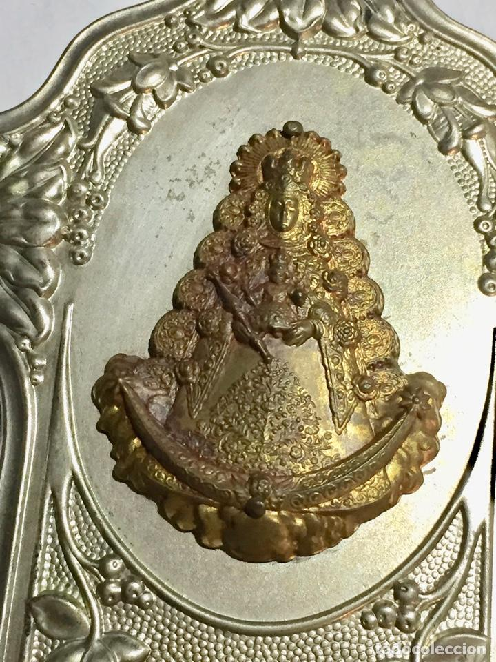 Antigüedades: VINTAGE BENDITERA NUESTRA SRA. DEL ROCIO- ALMONTE . 8 X 16 CM. - Foto 3 - 222573983
