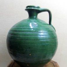 Antigüedades - antigua perula aceitera vidriada, andaluza, 26 cm, - 143176402