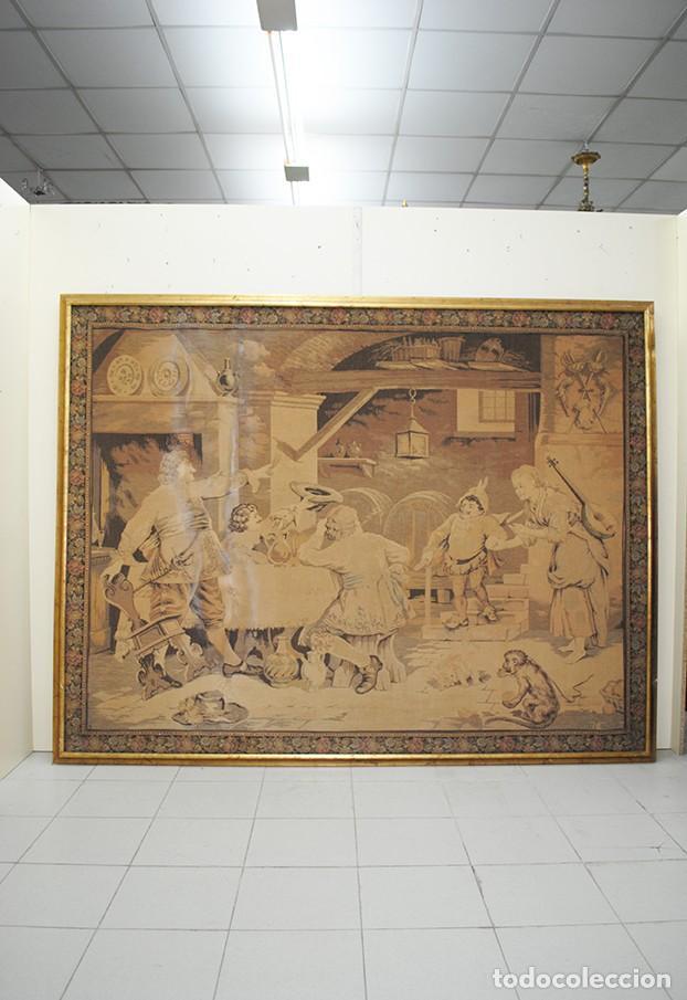 Antigüedades: TAPIZ ANTIGUO DE GRAN TAMAÑO - Foto 2 - 143178246