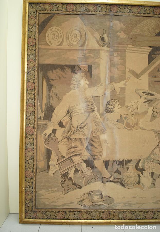 Antigüedades: TAPIZ ANTIGUO DE GRAN TAMAÑO - Foto 4 - 143178246
