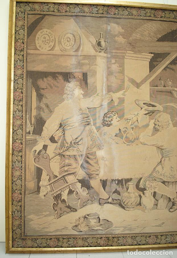 Antigüedades: TAPIZ ANTIGUO DE GRAN TAMAÑO - Foto 5 - 143178246