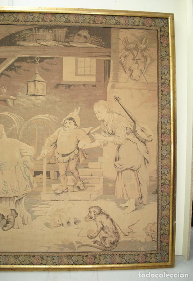 Antigüedades: TAPIZ ANTIGUO DE GRAN TAMAÑO - Foto 6 - 143178246