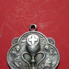 Antigüedades: ANTIGUA MEDALLA DEL SANTO CALIZ DE VALENCIA. SANTO GRIAL. 1925. 3,1 X 2,6 CM.. Lote 143195185