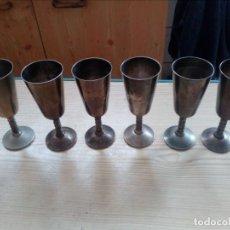 Antigüedades: 6 COPAS TIPO CALIZ CON CUELLO LABRADO. Lote 143205862