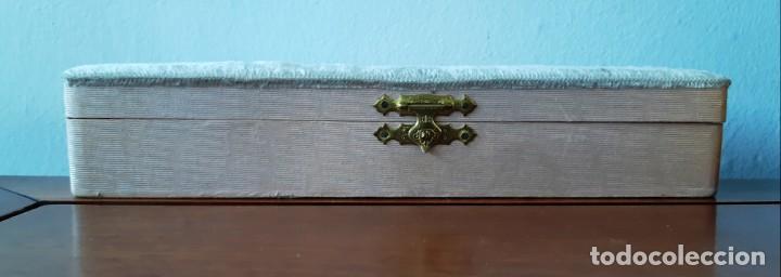Antigüedades: Abanico de ópera de principios de siglo XX con estuche original - Foto 13 - 143222418