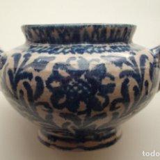 Antigüedades: AZUCARERO DE FAJALAUZA ABIGARRADO.. Lote 143245790