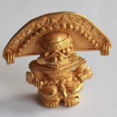Antigüedades: FIGURA ORO TUMBAGA DE LA CULTURA TAIRONA PRECOLOMBINA 19 GRAMOS DE PESO. Lote 143248446