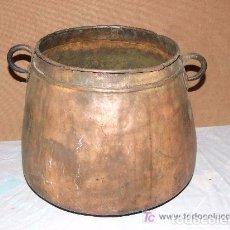 Antigüedades: OLLA, MARMITA DE COBRE -. Lote 143262138