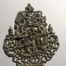 Antigüedades: BENDITERA PLATA REFLEJA NACIMIENTO. Lote 143267010