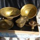 Antigüedades: COLADOR Y CALENTADOR. Lote 143280230