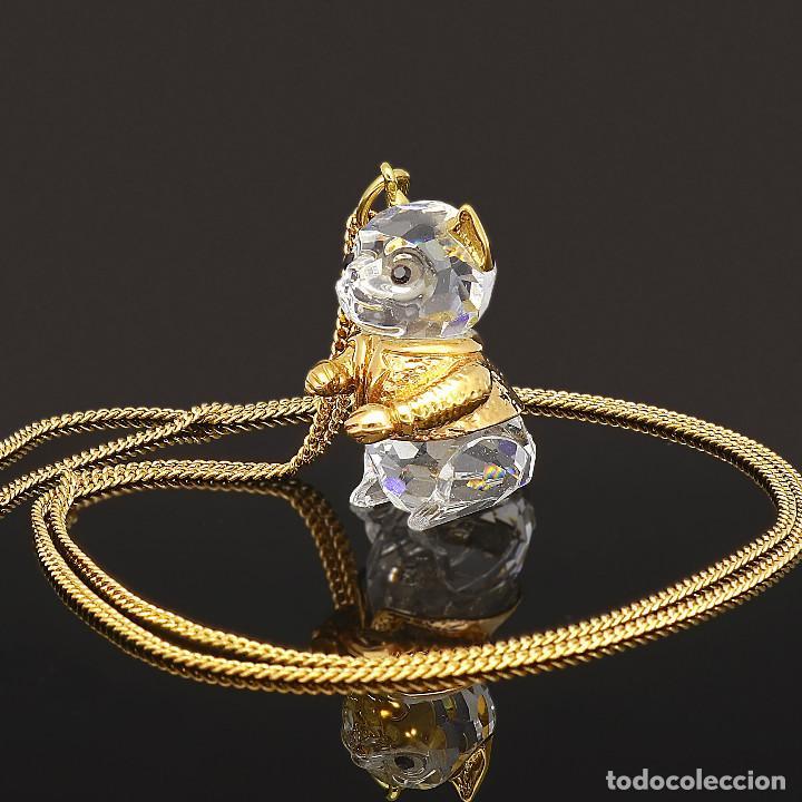 Antigüedades: Swarovski Collar y Colgante con diseño de Ardilla con Zafiros y chapados Dorados - Foto 4 - 143303110