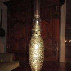 Antigüedades: UNICO Y ANTIGUO PROYECTIL OBUS LAMPARA QUINQUE 1º GUERRA MUNCIAL ARTE DE TRINCHERAS PRECIO 233,00 €. Lote 143304690