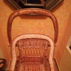 Antigüedades: TRONA DE MIMBRE ANTIGUA.. Lote 143324986