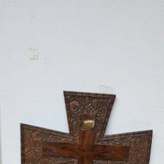Antigüedades: TALLA DE MADERA CRUCIFIJO. Lote 143327362