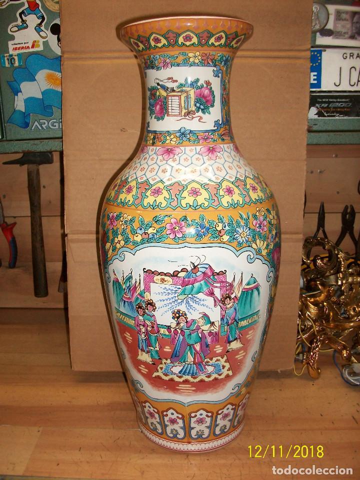 ANTIGUO JARRON DE PORCELANA CHINA (Antigüedades - Porcelanas y Cerámicas - China)