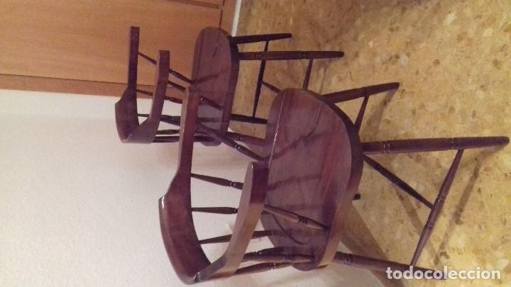 Antigüedades: Lote 4 sillas de bar restauradas - Foto 3 - 143342510