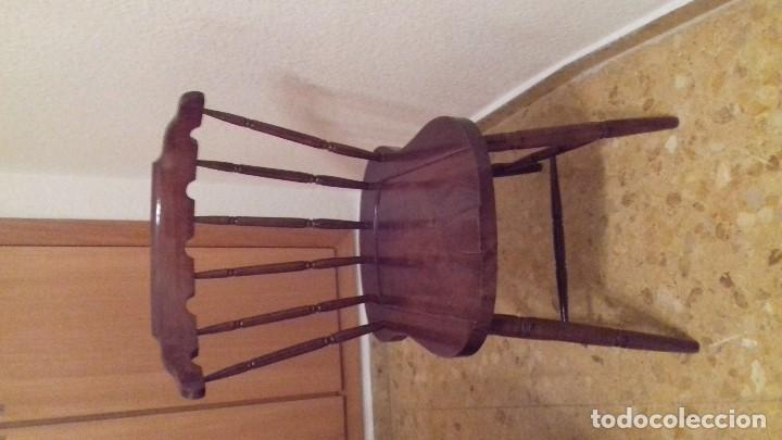Antigüedades: Lote 4 sillas de bar restauradas - Foto 4 - 143342510
